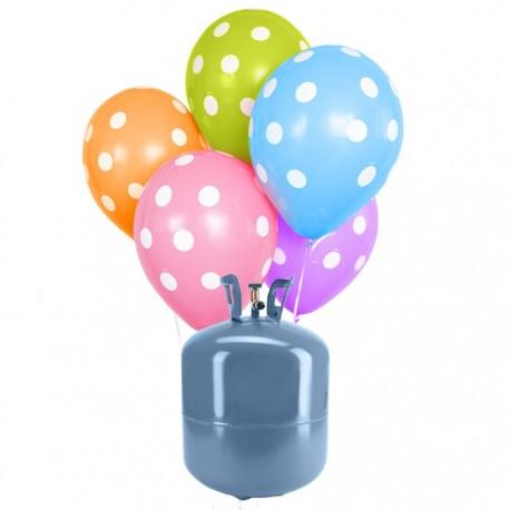 Bombole di Elio con 30 palloncini Puas
